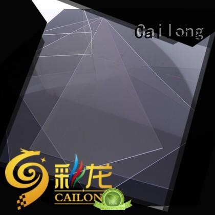 Cailong grade transparent polycarbonate sheet wholesale for automobiles