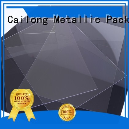 Cailong Reflective clear plastic sheets for kids for sporting goods