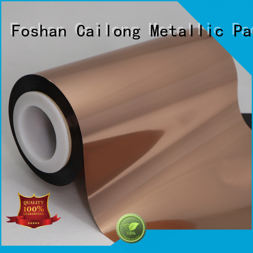 best Copper Metallized PET Film customization used for labels