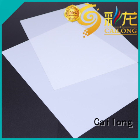 Cailong sheetfilm clear plastic sheets directly sale for optical lenses