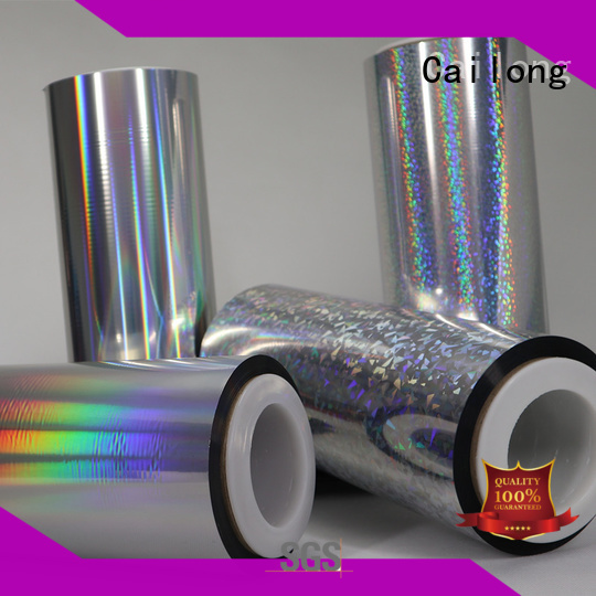 Cailong roll holographic film from manufacturer for non-woven composite