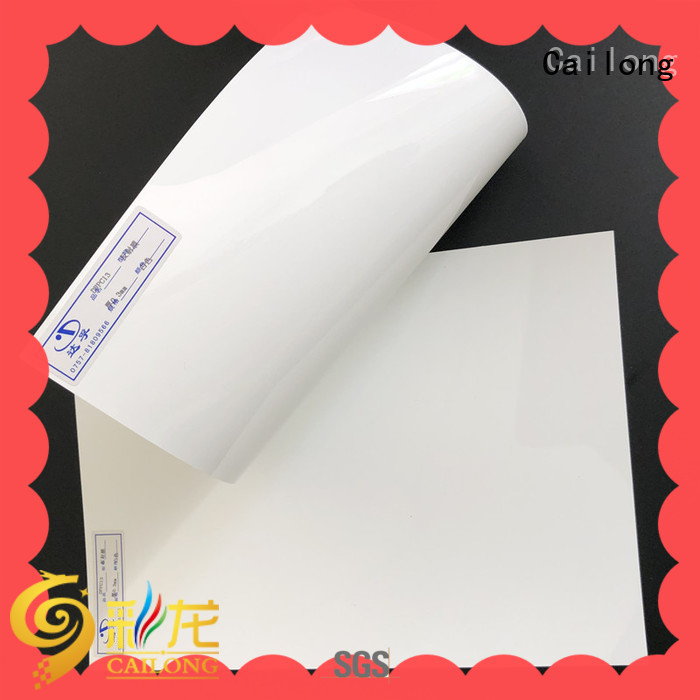 Cailong Printing transparent polycarbonate sheet from China for optical lenses