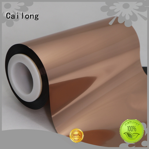 Cailong film Copper Metallized PET Film directly sale used for stickers