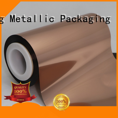 excellent physical properties Copper Metallized PET Film film workwear for daily chemicals