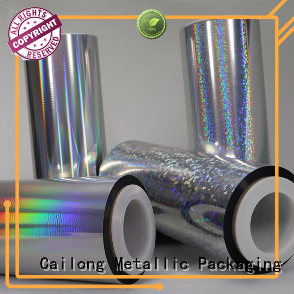 Cailong film holographic plastic free design for food