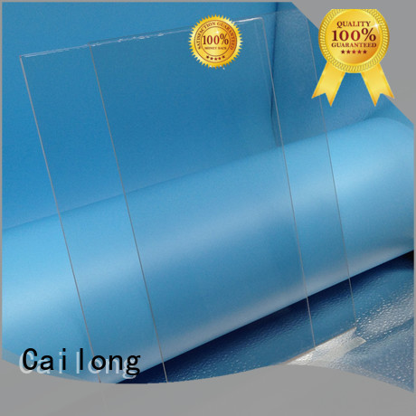 Cailong Transparent clear plastic sheets button design for sporting goods