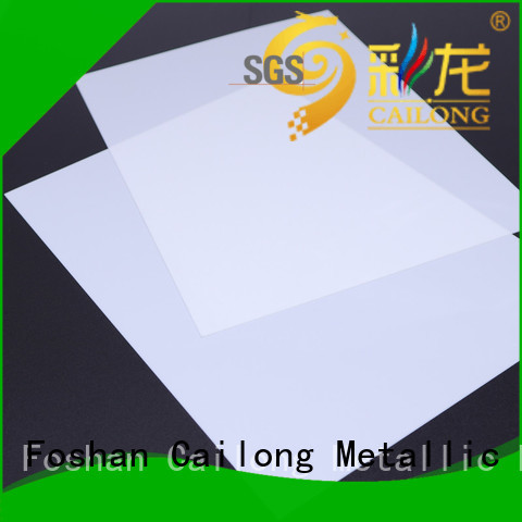 Cailong textured polycarbonate film from China for automobiles