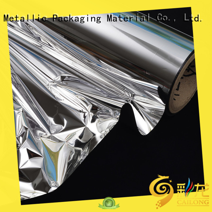 Cailong multiple reflective metalized film factory price used for printing