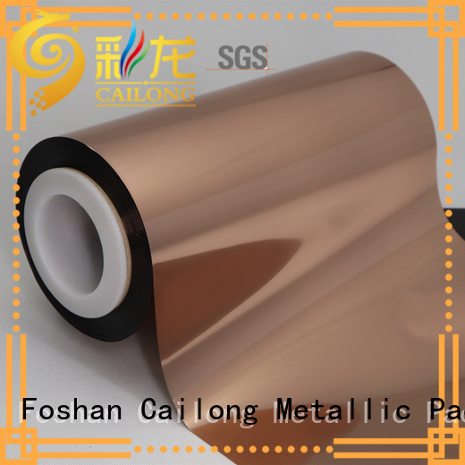 Cailong metallized Copper Metallized PET Film for alcohol