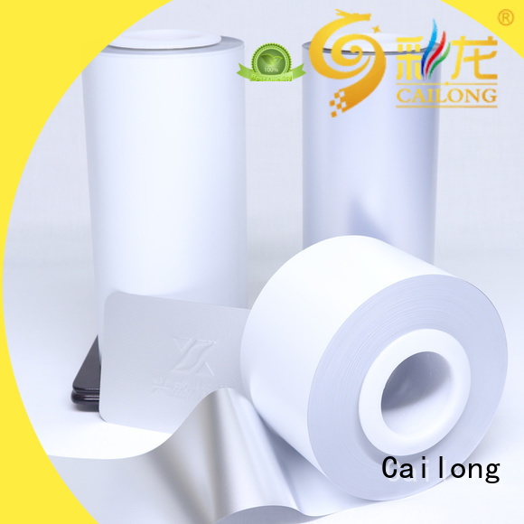 Cailong original transparent color film factory for labels